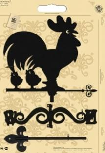 "Флюгер малый 116 ""Петух с цыплятами"""