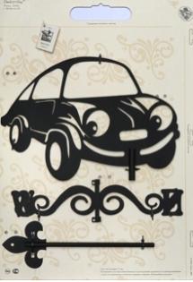 """Флюгер малый 112 """"Машина с глазами"""""""
